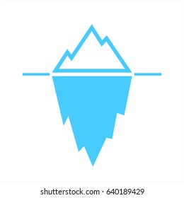 Iceberg blue vector pictogram on white background. Iceberg eps icon.