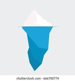 iceberg diagram vector illustration. ice berg icon