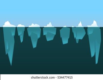 iceberg flat icon set