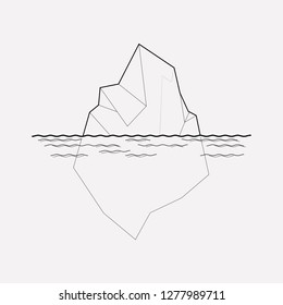 Iceberg icon line element. Vector illustration of iceberg icon line isolated on clean background for your web mobile app logo design.