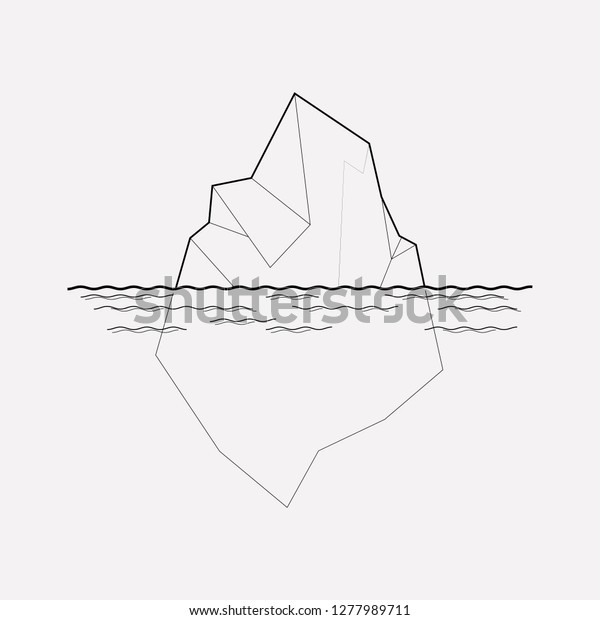 best sneakers 7368d 46861 Iceberg Icon Line Element Vector Illustration Stock Vector ...