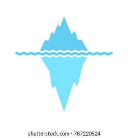 Iceberg icon. Vector illustration.