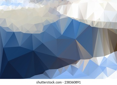 Iceberg, sea, lake. Triangle background, vector polygon art, soft colored abstract illustration. Web mobile interface template. Travel corporate website design. Blurred. Landscape. Instagram style.