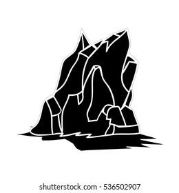 Iceberg Silhouette Icon Symbol Design. Vector illustration isolated on white background.