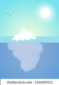 Iceberg or the subconscious of people.