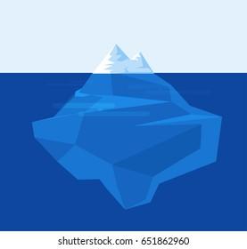 iceberg underwater illustration. vector stock.