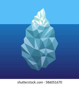Iceberg underwater - vector illustration