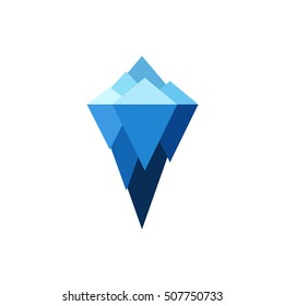 Iceberg vector brand sign. Logo illustration isolate on white background