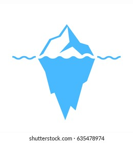 Iceberg vector eps icon isolated on white background