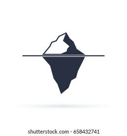 Iceberg vector eps icon isolated on white background. Ice mountain shape