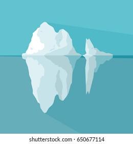 Iceberg vector illustration.