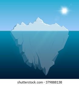 Iceberg. Vector illustration, eps 10.
