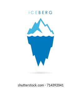 Iceberg vector logo illustration isolated on white background