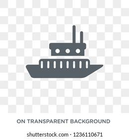 icebreaker ship icon. icebreaker ship design concept from Transportation collection. Simple element vector illustration on transparent background.