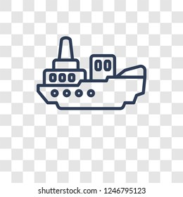 icebreaker ship icon. Trendy icebreaker ship logo concept on transparent background from Transportation collection