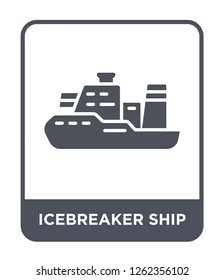 icebreaker ship icon vector on white background, icebreaker ship trendy filled icons from Transportation collection