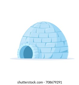 Iced igloo icon. Clipart image isolated on white background
