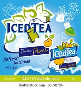 Iced Tea label elements