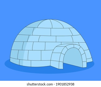 An icehouse (igloo) standing in the North Pole