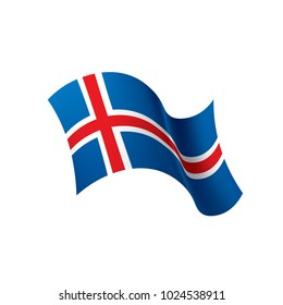Iceland flag, vector illustration on a white background