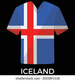 Iceland football uniform vector design