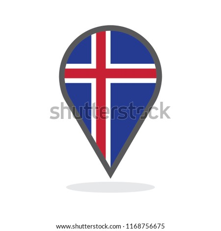 Iceland Location Map Vector Illustration Stock Vector (Royalty Free ...