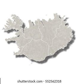 Iceland map city icon