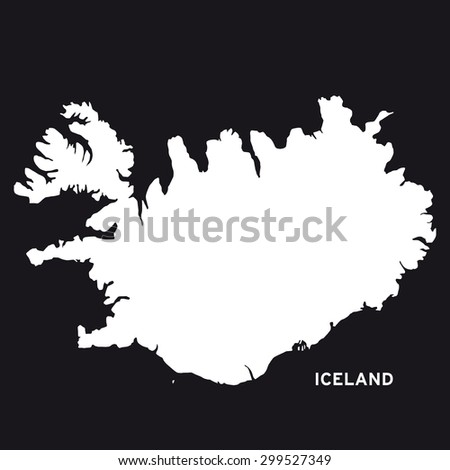Iceland Map Vector Stock Vector (Royalty Free) 299527349 - Shutterstock