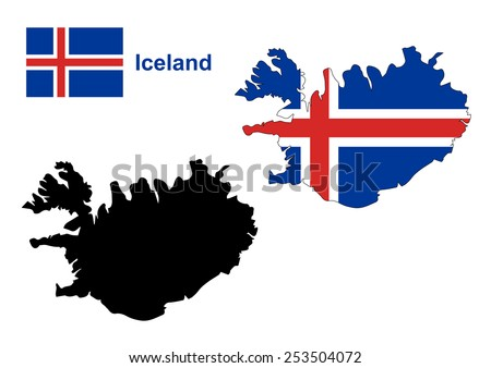 Iceland Map Vector Iceland Flag Vector Stock Vector (Royalty Free ...