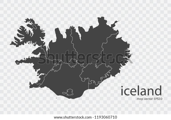 Iceland Map Vector Isolated On Transparent Stock Vector (Royalty ...