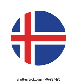 Iceland national flag, Iceland flag, official colors and proportion correctly. National Iceland flag. Vector illustration.