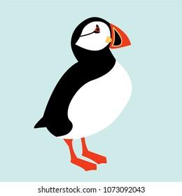 Icelandic Puffin bird icon. Vector illustration
