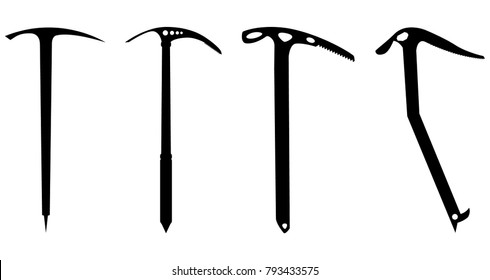 Icepick set for design and info graphic