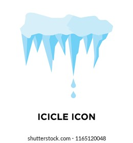Icicle icon vector isolated on white background, Icicle transparent sign , weather symbols