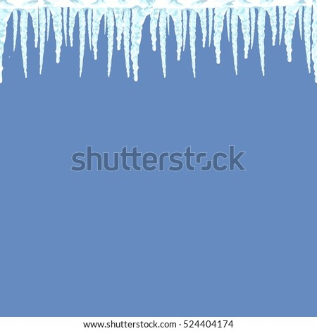 icicles seamless pattern winter background illustration stock vector