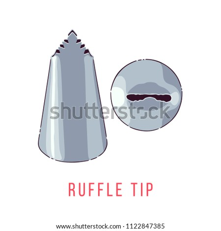 Icing Tip Illustration Front View Top Stock Vector (Royalty