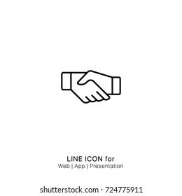 Icon agreed handshake graphic design single icon vector