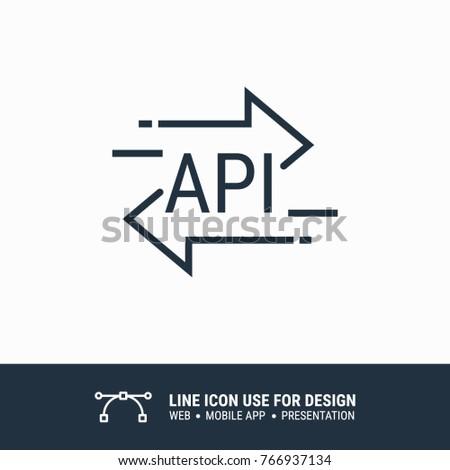 icon api data graphic design single stock vector royalty free