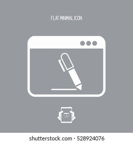Icon of application for handwriting