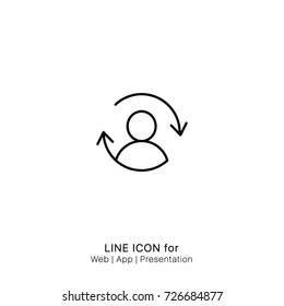 Icon arrows refresh reload sync user graphic design single icon vector
