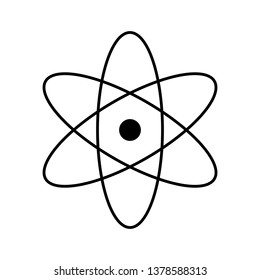 Icon with atom symbol