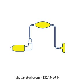 Icon of auger. Thin line design. Vector illustration.