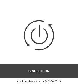 Icon auto restart Single Icon Graphic Design