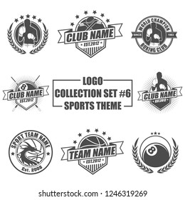 Icon, badge, emblem and logo template design with sports theme