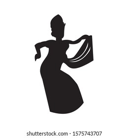 Icon Balinese traditional dance Vector graphic style