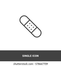 Icon bandaid clip Single Icon Graphic Design