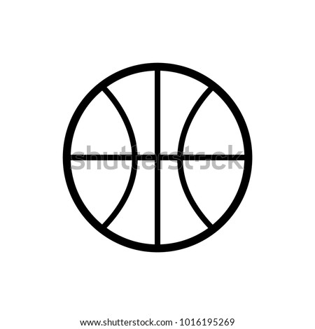 icon basketball template stock vector royalty free 1016195269