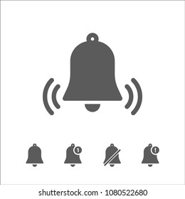 Icon bell trendy vector illustration. bell ring alert notification icons