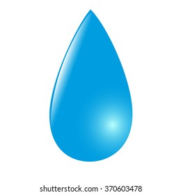 Icon blue drop on white background. Vector illustration for your design.