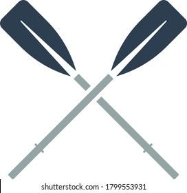 Symbol der Bootsohren. Flaches Farbdesign. Vektorgrafik.
